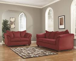 100 Red Dining Chairs 77449 2 Pc Darcy SALSA Sofa Loveseat Set Ashley