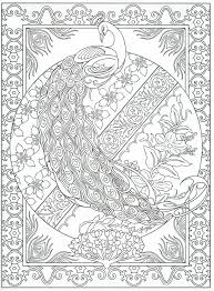 Peacock Coloring Pages For Adults Free Download Coloring Peacock