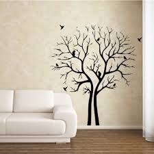 7 Photos Of The Black Tree Wall Paintings For Bedrooms