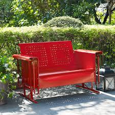 Patio Furniture Loveseat Glider by Coral Coast Retro Vintage Outdoor Glider Loveseat Hayneedle