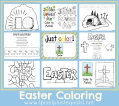 Free Easter Coloring Pages Worksheets Printables Lapbooks Crafts More
