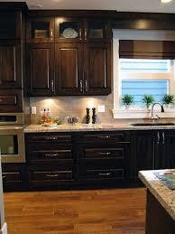 Kitchens With Dark Cabinets And Light Countertops by Best 25 Dark Kitchen Cabinets Ideas On Pinterest Dark Cabinets