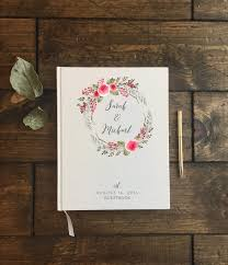 Wedding Guest Book Guestbook Floral Rustic