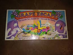 Vintage Board Game The Grape Escape 1992 Parker Brothers