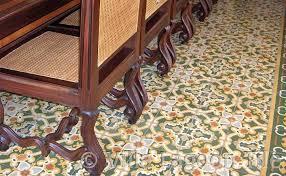 Carribean Style Dining Room Tile Floor