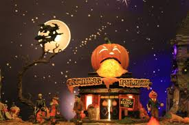 Lemax Halloween Village Displays by My Halloween Village Display V 2 With Lemax And Dept 56 Youtube