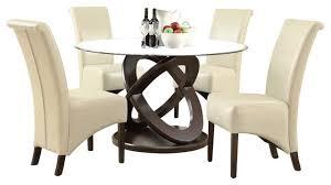 monarch specialties 1749 177 5 piece round dining room set in dark
