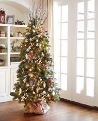 A Christmas Large Piece Of Burlap To Cover Unsightly Tree Stand And Ribbon Secure It
