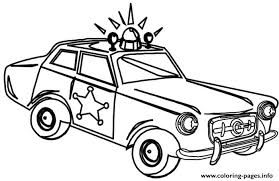 Very Old Police Car Coloring Pages Printable