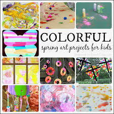 More Colorful Spring Art Projects For Kids