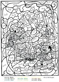 Coloring Pages Color By Number Page For Adults Sheets