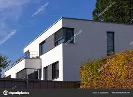 100 Townhouse Facades Modern Homes Small Town South Germany Autumn Sunshine Day
