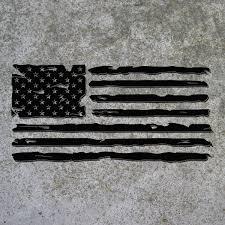 Tattered Flag Die Cut Decal