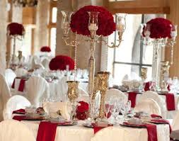 Red Gold And Ivory Wedding