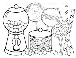 Candy Coloring Sheets