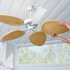 palm leaf ceiling fan blades