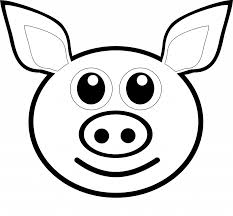 Pig Line Art Clip On Clipart Drawing Library Pictures Of Pigs To Color Large Size
