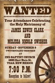 Old West Wedding Invitation Etsy ETSY T Weddings