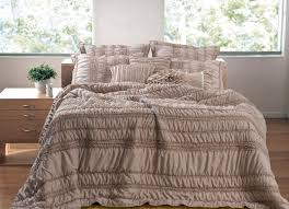 Greenland Home Bedding by Greenland Home Fashions Tiana Ruched Taupe 5 Piece Bedding Set