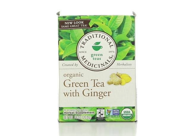 Traditional Medicinals Organic Green Tea with Ginger - 16 Tea Bags