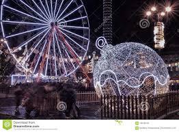 UK Scotland Lothian Edinburgh Christmas Decorations In The