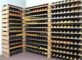Modular Stackable Wine Rack 32 96 Bottles Capacity Solid Beechwood