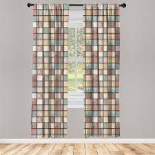 gardine fensterbehandlungen 2 panel set für wohnzimmer schlafzimmer dekor abakuhaus shabby chic quadratische stücke tile kaufen otto