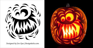 Scariest Pumpkin Carving Patterns by Free Halloween Scary Pumpkin Carving Stencils Patterns