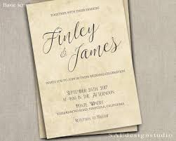 PRINTED Country Rustic Wedding Invitation Rsvp W Both Envelopes Large Script Or Remove Top Line Font Names Romantic Elegant