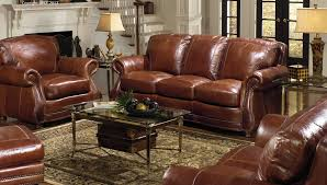 Leather Couch And Chair TABLE AND CHAIRS