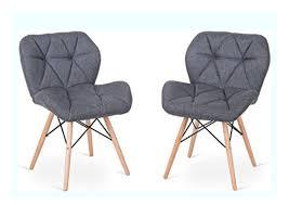sell costway 2er set polsterstuhl esszimmerstuhl