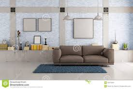 Brown Couch Living Room Design by Brown Couch In A Loft Stock Photos Image 32075093