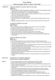 100 Assistant Project Manager Resume Samples Velvet Jobs