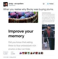 On Why Bucky Was Actually Buying Those Plums