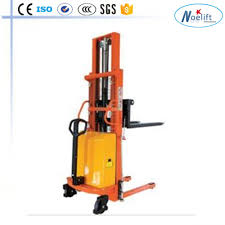 China Mini Semi Electric Pallet Stacker For Sale - China 1ton, With ...