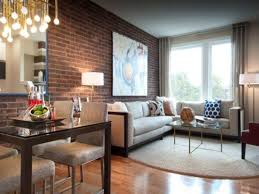 Brown Couch Living Room by Living Room Rustic Living Rooms Exposed Brick Living Room Wall