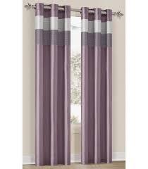 Bedding Chelsea Lavender Silver Plum Grommet Window Curtain Panel