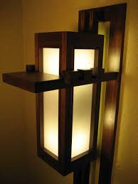 frank lloyd wright wall sconce woodworking