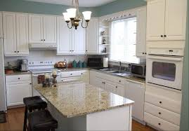 Kitchens With White Appliances Cabinets And Give