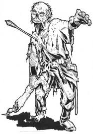 Zombie Characters Printable Coloring Pages