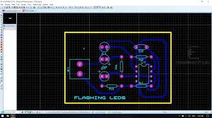 100 555 Design PROTEUS FLASHING LEDS USING IC CIRCUIT SIMULATION AND PCB LAYOUT DESIGN
