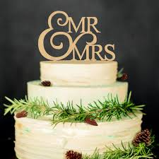 Mr Mrs Wedding Cake Topper Decoration Rustic Wood Decorations