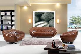 living room decorating ideas with rustic brown leather sofa