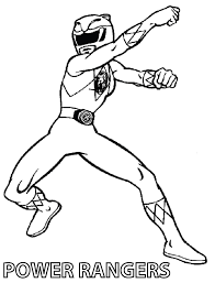 Image Of Power Rangers Coloring Pages Print