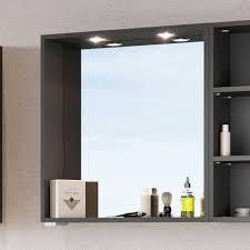 praktischer badezimmer spiegel in grau estregos
