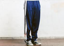 adidas track pants vintage adidas snap pants blue 90s pants mens