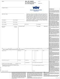 100 Truck Bills Of Lading Sea Waybill Instead Of A Bill Of Wallenius Wilhelmsen Ocean