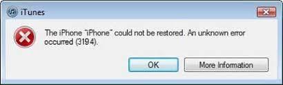 Solutions to Fix iTunes Errors 3194 or iPhone Error 3194