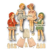 Buy Vtg 1930s Composition Doll Pattern 18