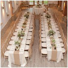 Hessian Table Runners Wedding Ideas